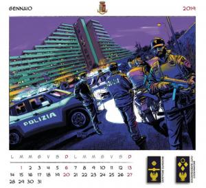 calendario polizia 2019 scampia fanpage uomo e il legno enzo vanacore