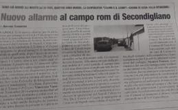 EMERGENZA COVID-19 AL CAMPO ROM DI SECONDIGLIANO: L'UOMO E IL LEGNO IN PRIMA LINEA