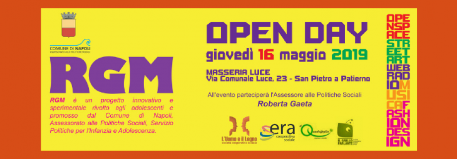 Open Day progetto Adolescenti RGM!
