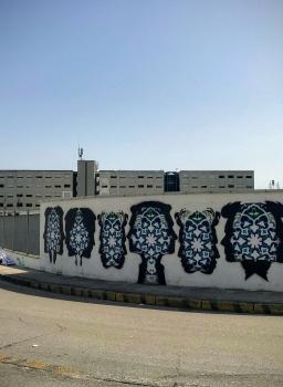 La Street Art iraniana colora le mura del Carcere di Secondigliano
